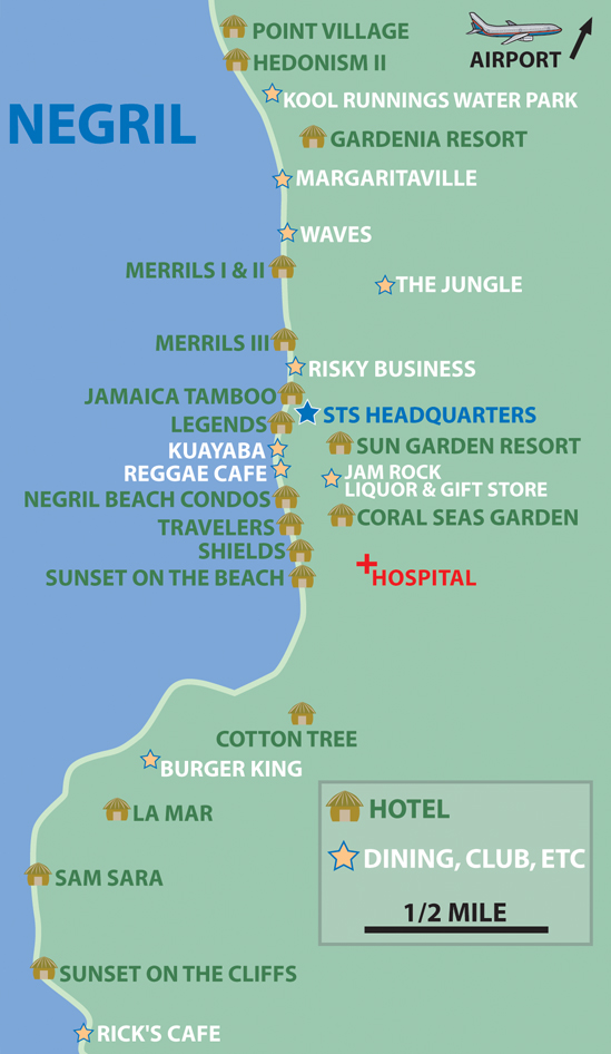 Negril Jamaica Maps Maps of Jamaica